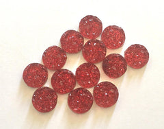 12mm Druzy Cabochons, Strawberry Jam, jewelry making kit, earring set, diy jewelry, druzy studs, 12mm Druzy, cabochon, stud earrings
