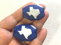 Texas Beads, Faceted Nugget Bead, 35mm x 24mm, bangle beads, texas jewelry, state beads, dallas houston austin San Antonio lubbock