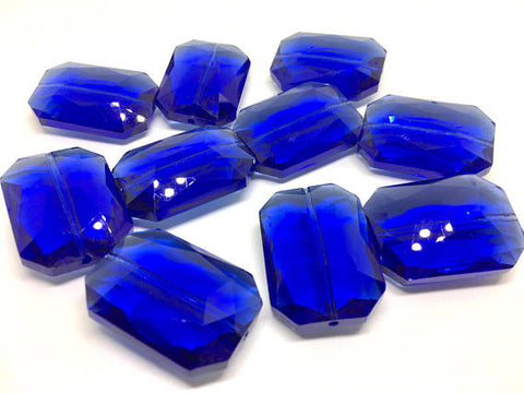 34mm Glass Crystal in royal blue crystals, faceted crystals for jewelry creation, wire bangle making, glass beads, bangle beads, bracelet