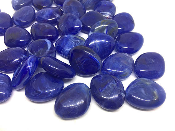 Royal Blue Beads, The Princess Collection, 25mm Beads, big acrylic beads, bracelet necklace earrings, jewelry making, navy blue jewelry