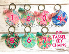 Acrylic Blanks, 2.5 Inch Circles with 1 Hole, tassel Keychain blanks, blank acrylics, circle keychains, monogram keychain, monogram gifts