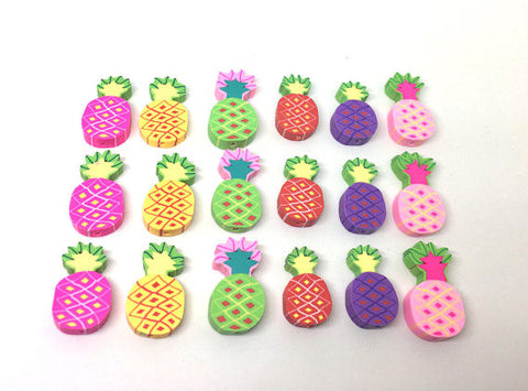 Pineapple Beads, Clay Beads, Pink Green Yellow, Purple beads, bracelet necklace earrings, jewelry making, clay beads, bangle bead