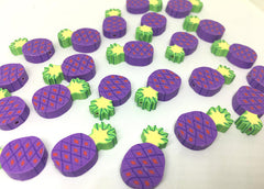Pineapple Beads, Clay Beads, purple beads, bracelet necklace earrings, jewelry making, clay beads, bangle bead, pineapple decor beads