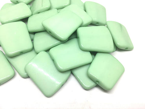 Mint Green solid Trapezoid 33mm big acrylic beads, green chunky craft supplies, mint wire bangle, jewelry making, mint statement necklace