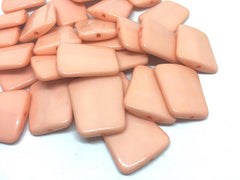 Peach solid Trapezoid 33mm big acrylic beads, pink chunky craft supplies, peach wire bangle, jewelry making, peach statement necklace, coral