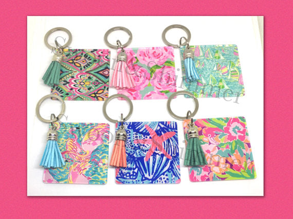 Acrylic Blanks, 2.25 Inch Square with 1 Hole, tassel Keychain blanks, blank acrylics, square keychains, monogram keychain, monogram gifts