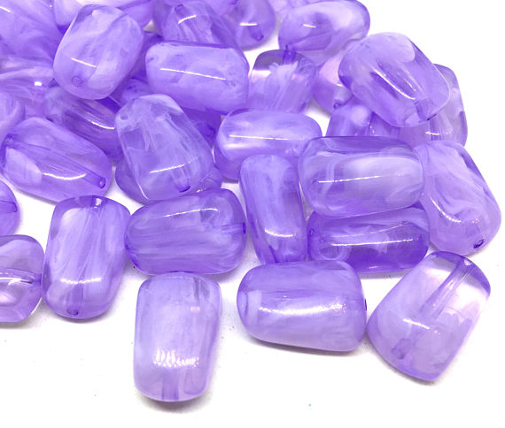Lavender Purple 21mm Beads, geometric acrylic beads, bracelet necklace earrings, jewelry making, acrylic bangle beads, lavender beads
