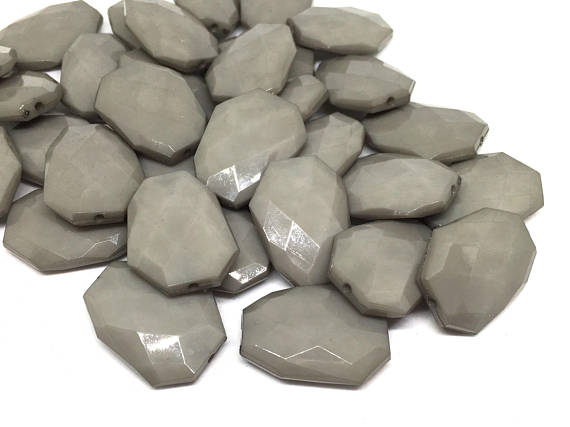 Gray faceted beads, bangle beads, gray jewelry, Bangle Making, Jewelry Making, 27mm Beads, gray necklace, gray bangle, acrylic gray beads
