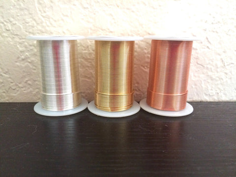 20 Gauge Silver Gold Copper Wire 45 Feet / 15 Yards Jewelry Bangle Make Wire Wrapped Pendants Necklace Bracelet