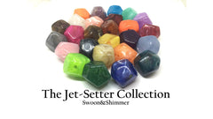 Acrylic Beads, The Jet-Setter Collection, 22mm beads, Colorful beads, Multi-Color Beads, Gemstones, Chunky Beads, Beaded Jewelry