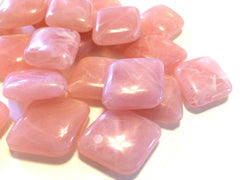 Soft Pink Beads, The Diamond Collection, 32x27mm Beads, big acrylic beads, pink jewelry, bracelet necklace earrings, jewelry making