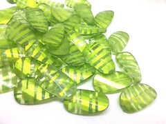 Lime Green Beads, Striped Beads, 30mm Beads, big acrylic beads, bracelet necklace earrings, jewelry making, acrylic bangle bead, key lime