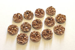 12mm Druzy Cabochons, RoseGold, jewelry making kit, earring set, diy jewelry, druzy studs, 12mm Druzy, cabochon, stud earrings
