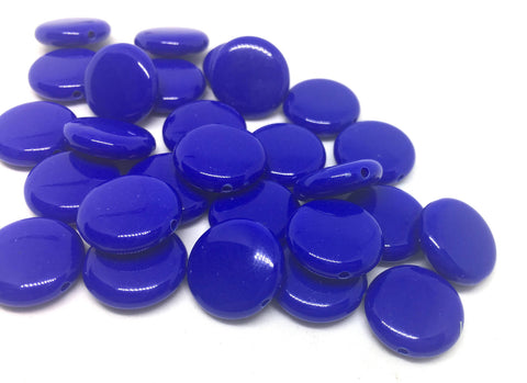 Royal Blue 14mm Round Beads in 9 colors, Rainbow beads, circle beads, geometric jewelry, kids jewelry, candy beads, acrylic beads, bracelet beads