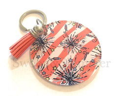 Coral Fireworks Acrylic Blanks, 2.5 Inch Circles 1 Hole, tassel Keychain blanks, blank acrylics, circle keychains, monogram keychain, white