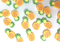 Pineapple Beads, Clay Beads, yellow beads, bracelet necklace earrings, jewelry making, clay beads, bangle bead, pineapple decor beads orange