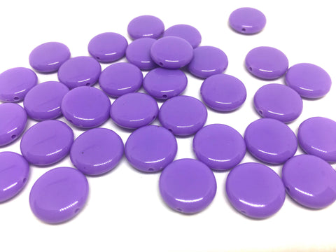 Purple 14mm Round Beads in 9 colors, Rainbow beads, circle beads, geometric jewelry, kids jewelry, candy beads, acrylic beads, bracelet bead