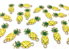 Gold Pineapple Connector Pendants, pineapple charms, gold connectors, pineapple bracelets, pineapple jewelry, wire bracelets, gold bracelets