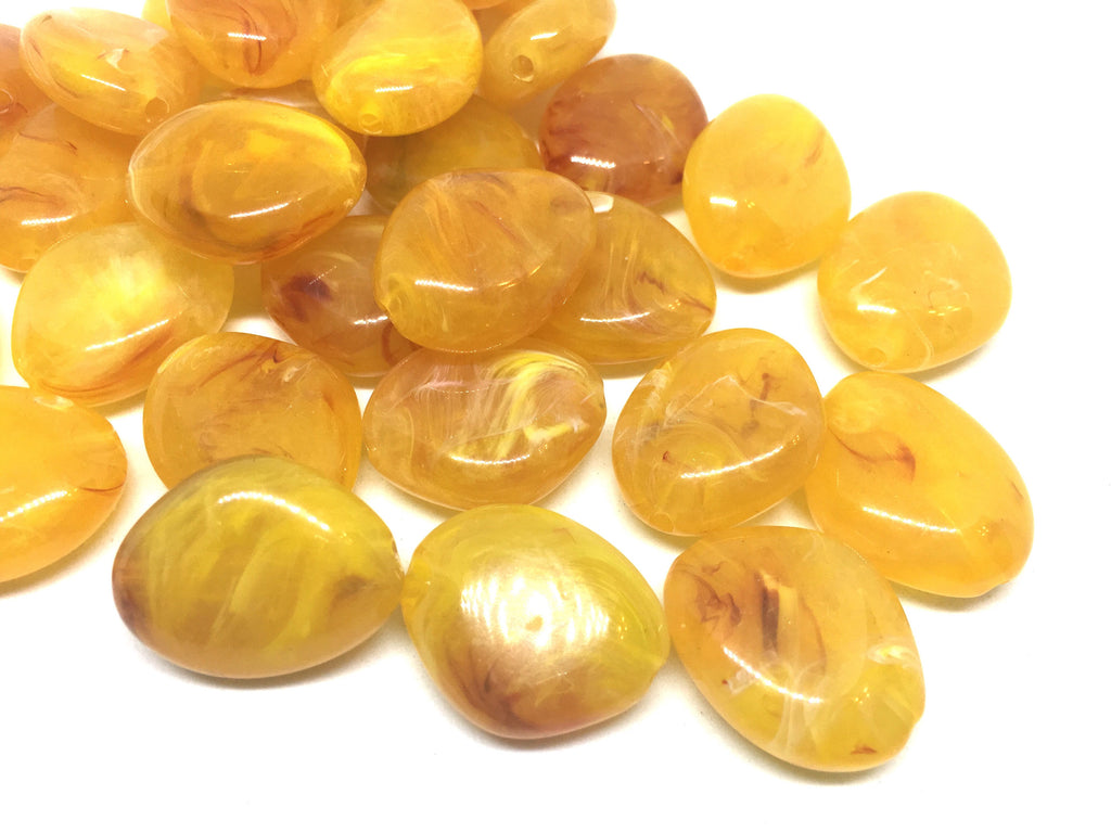 Marigold Yellow Beads, The Princess Collection, 25mm Beads, big acrylic beads, bracelet necklace earrings, jewelry making, yellow jewelry