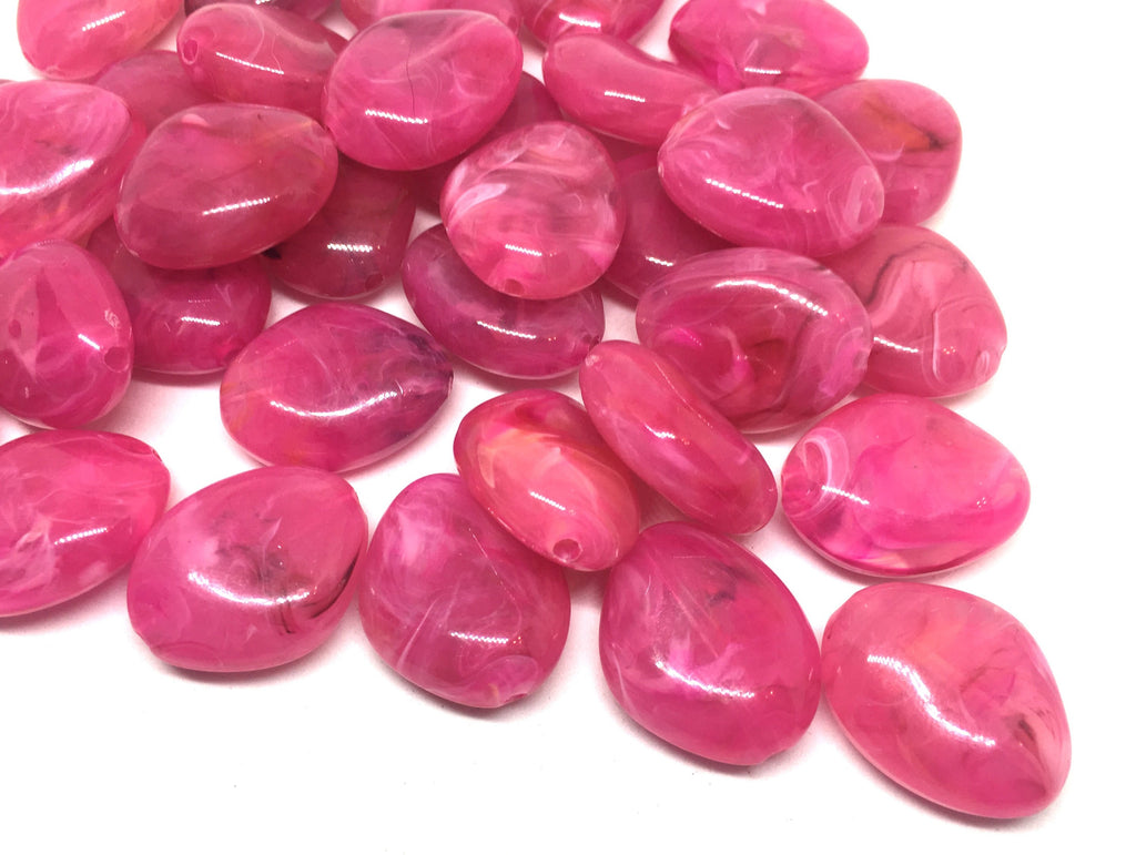 Pink Beads, The Princess Collection, 25mm Beads, big acrylic beads, bracelet necklace earrings, jewelry making, pink jewelry, dark pink bead