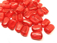Red 21mm Beads, geometric acrylic beads, bracelet necklace earrings, jewelry making, acrylic bangle beads, red beads, red bangle, red jewel