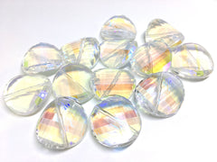 29mm Glass Crystal in colorful clear, faceted crystals for jewelry creation, bangle jewelry making, clear glass crystals round circles round