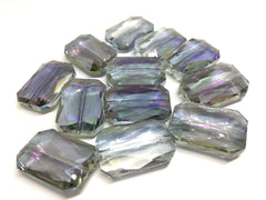 28mm Glass Crystal in Lavender Gray, faceted crystals for jewelry creation, bangle making beads, purple crystals, purple beads, glass beads