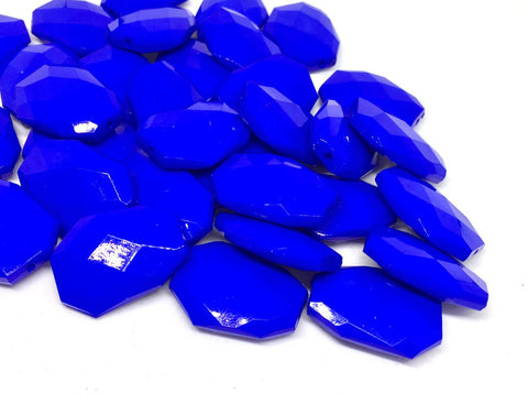 Royal Blue faceted beads, blue beads, Bangle Making, Jewelry Making, 27mm Beads, blue necklace, royal blue jewelry, royal blue bangle