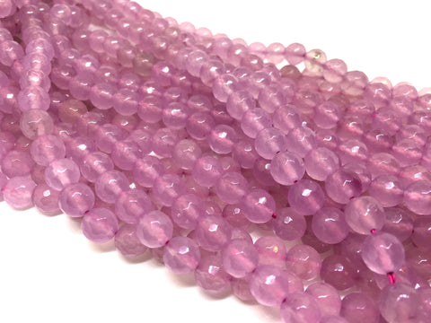 8mm lavender purple Agate faceted Glass round Beads, jewelry Making beads, Wire Bangles, long necklaces, tassel necklace, purple gemstones