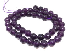 8mm eggplant purple Agate faceted Glass round Beads, jewelry Making beads, Wire Bangles, long necklaces, tassel necklace, purple gemstones