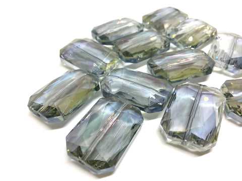 28mm Glass Crystal in Olive Gray, faceted crystals for jewelry creation, bangle making beads, gray crystals, gray beads, green glass beads