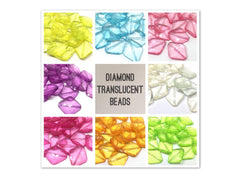 Multi-Color Diamond Translucent Collection, 31mm Beads, big acrylic beads, bracelet necklace earrings, jewelry making, acrylic bangle beads