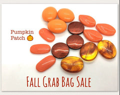 Fall SALE Colored Bead Grab Bag, orange Beads, Halloween beads, Halloween jewelry, orange beads jewelry, October beads clearance