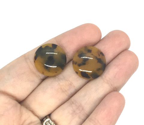 Teardrop Tortoise Shell Acrylic Blanks Cutout, Circle blanks, earring jewelry making, 20mm jewelry, stud earring blanks, tortoise earrings
