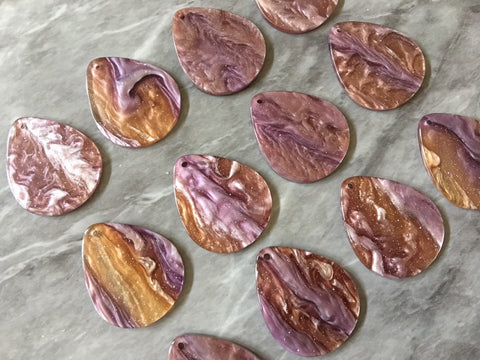 Glitter Purple Tortoise Shell Acrylic Blanks Cutout, earring pendant jewelry making, 35mm brown 1 Hole earring blanks, geode agate