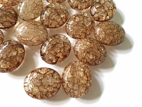 Chocolate Brown Crackle Translucent Beads, Faceted Nugget Bead, 26mm beads, brown jewelry, brown bangle, brown jewelry, brown bracelet