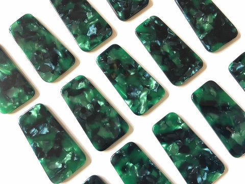 Green tortoise shell resin Acrylic Blanks Cutout, earring pendant jewelry making, 38mm blue 1 Hole earring blanks, green earrings