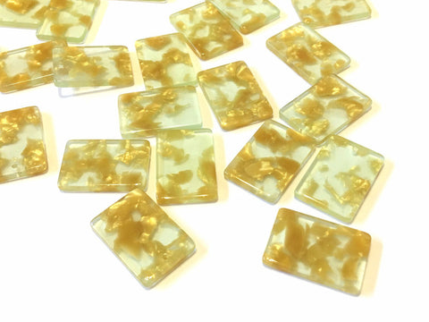 Clear Resin with Gold Foil Acrylic Blanks Cutout, rectangle blanks, earring bead jewelry making, 22mm rectangle jewelry, 1 Hole geometric