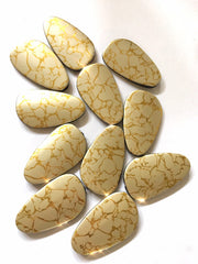 XL 56mm Gold Crackle painted Beads, large Acrylic Beads for Jewelry Making, Necklaces Bracelets earrings gold beads, asymmetrical beads