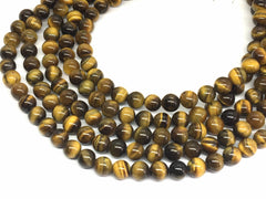 8mm Tigers eye Glass round Beads, jewelry Making beads, Wire Bangles, long necklaces, tassel necklace, brown black gemstones tiger eye