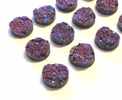 12mm Druzy Cabochons, CHUNKY UNICORN, jewelry making kit, earring set, diy jewelry, druzy studs, 12mm Druzy cabochon, purple studs