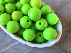 Green 16mm round beads, gumball beads, bubblegum beads, chunky beads lime necklace, apple green jewelry, chunky necklace
