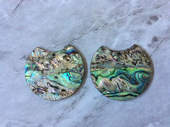 Abalone Shell Green Black Acrylic Blanks Cutout, earring pendant jewelry making, 35mm jewelry, 1 Hole earring blanks, geode agate