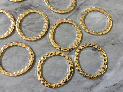 Gold Circle Chunky 35mm 1 hole for earrings, gold circle blanks, DIY gold earring jewelry round gold earrings, geometric boho long necklace