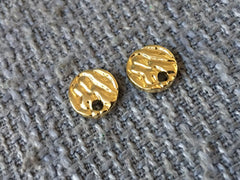 Flowing River 10mm Gold post earring circle blanks, gold round earring, gold stud earring, gold jewelry, gold dangle earring making