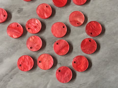 Coral Sparkle Acrylic Blanks, 12mm earring circles, dangle beads monogram earrings, acrylic blanks, circular earrings, acrylic circles