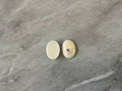 Terrazzo + Cream Resin Acrylic Blanks Cabs, 14mm Oval blanks, earring jewelry making, stud earring blanks, cabochon earrings