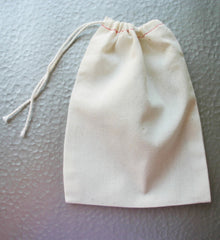 5x7 Drawsting Cotton Bags  - Choose your quantity - Candy / Soap / Party Favor / Jewelry bags - Swoon & Shimmer - 4