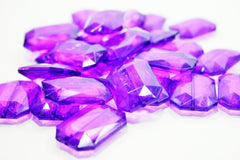 Purple Large Translucent Beads - Faceted Nugget Bead - FLAT RATE SHIPPING 30mmx22mm - Swoon & Shimmer - 2