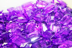Purple Large Translucent Beads - Faceted Nugget Bead - FLAT RATE SHIPPING 30mmx22mm - Swoon & Shimmer - 3